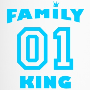 Family King with crown - light blue - Travel Mug
