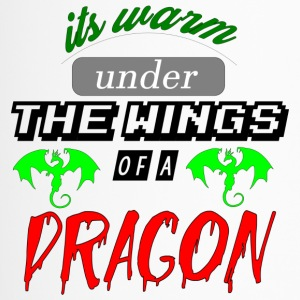 its warm under the wings of a dragon - Travel Mug