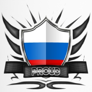 Russland Flagge Wappen Proud 012 - Thermobecher