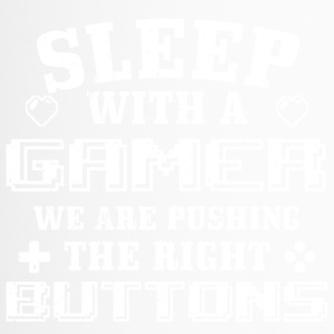 Funny Gamer Gaming Shirt Sleep With me - Thermobecher