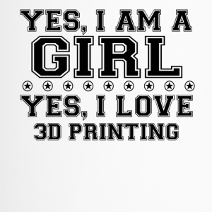 yes geschenk am a girl love bday gift 3D PRINTING - Thermobecher