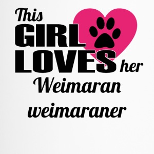 HUND DOG THIS GIRL LOVES GESCHENK Weimaran weimara - Thermobecher