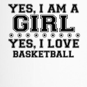yes geschenk am a girl love bday gift BASKETBALL - Thermobecher