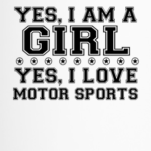 yes geschenk am a girl love bday gift MOTOR SPORTS - Thermobecher