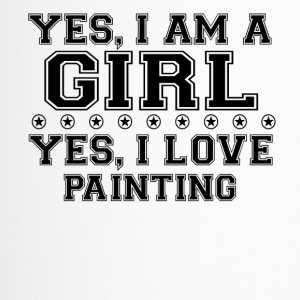 yes geschenk am a girl love bday gift PAINTING - Thermobecher