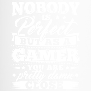 Funny Gamer Gaming Shirt Nobody Perfect - Thermobecher