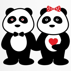 Paare panda in love - Thermobecher