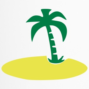 Island with palm tree - Travel Mug