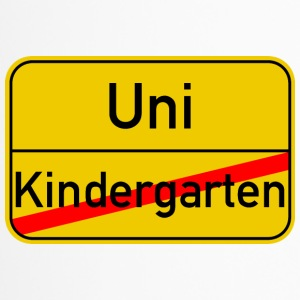 Ortsschild Kindergarten - Uni - Thermobecher