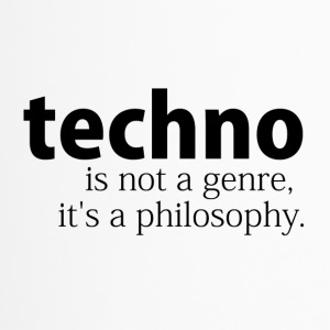 techno is not a genre - Thermobecher