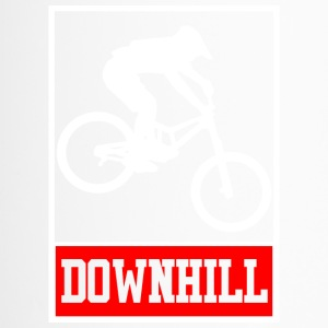 Downhill - Freerider - Biker T-Shirt und Hoodie - Thermobecher