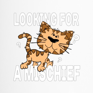 Cartoon cat looking for a mischief - Travel Mug