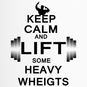 KEEP CALM lift some heavy weights - Thermobecher