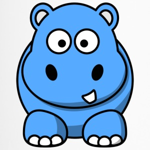 Lustiges Nilpferd Happy Hippo Comic Kinder - Thermobecher