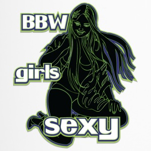 bbw girls sexy black green - Travel Mug
