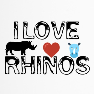 I love Rhinos - Travel Mug