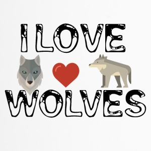 I love wolves - Thermobecher