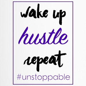 wake up, hustle, repeat - Travel Mug