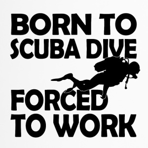 born to scuba dive - Thermobecher