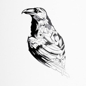 Crow black and white sketch - Travel Mug