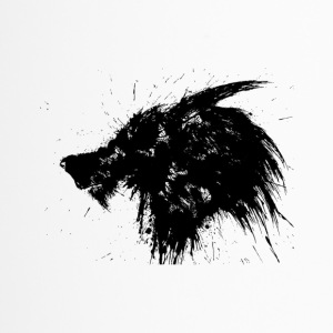 Wolf Splatter Design - Travel Mug