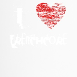 i love Frenchcore hardtech dubstep raver festival - Thermobecher