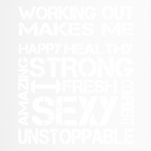 workout maakt me sexy - Thermo mok
