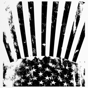 Stars Stripes black white - Thermobecher