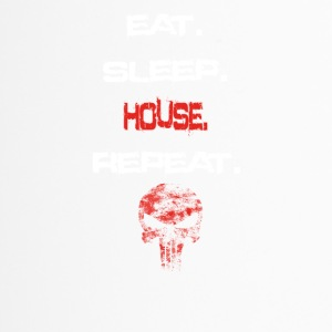 eat sleep repeat geschenk HOUSE - Thermobecher
