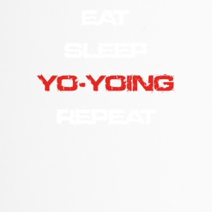 eat sleep repeat geschenk YO YOING - Thermobecher