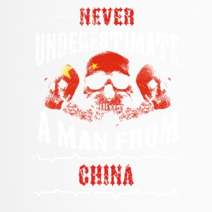 never underestimate man CHINA - Thermobecher
