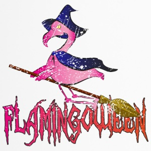 Halloween Flamingo Riding Broom ➢ Flamingoween - Termokopp
