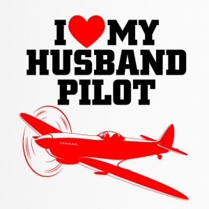 I love my husband pilot - Thermobecher