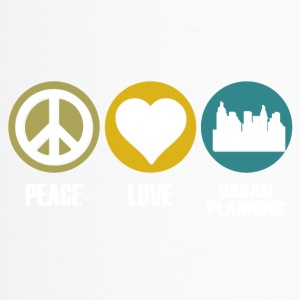 peace love urban planning - Thermobecher