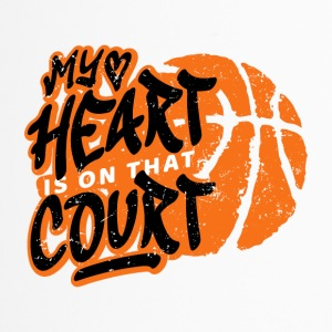 Basketball My heart is on that court. B-ball game - Travel Mug