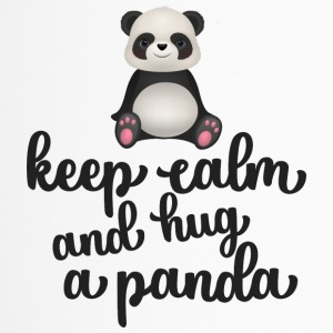 Keep calm and hug a panda - Thermobecher