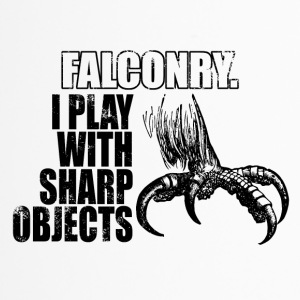 falconry - play with sharp objects - Thermobecher