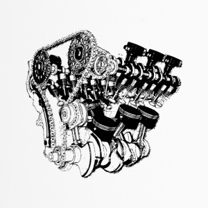 v8 motor engine car big block - Thermobecher