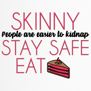 Cake: Skinny People Are Easier To Kidnap. Stay - Travel Mug