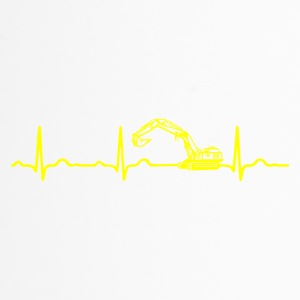 ECG HEARTBEATER Yellow - Travel Mug