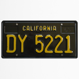 KALIFORNIEN BLACK LICENSE PLATE - Termosmugg