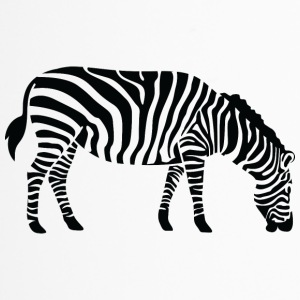 A Zebra Eating - Travel Mug