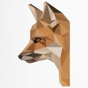 low poly fox - Kubek termiczny