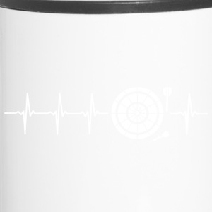 I love Darts (darts heartbeat) - Travel Mug