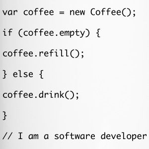 Koffie vulling Javascript-code - Thermo mok