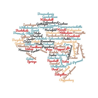 Niedersachsen Karte Mit Städten.Niedersachsen Deutschland Heimat Thermobecher Weiß