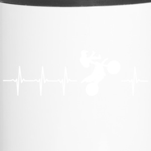 I love motocross (motocross heartbeat) - Travel Mug