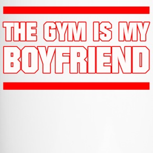 GYM IS MY BOYFRIEND FITNESS MÄDELS SPORT GESCHENK - Thermobecher