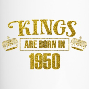 kings are born in 1950 - Geburtstag Koenig Gold - Thermobecher