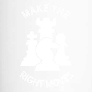 Make the right Moves - Schach Strategie Gehirn Zug - Thermobecher